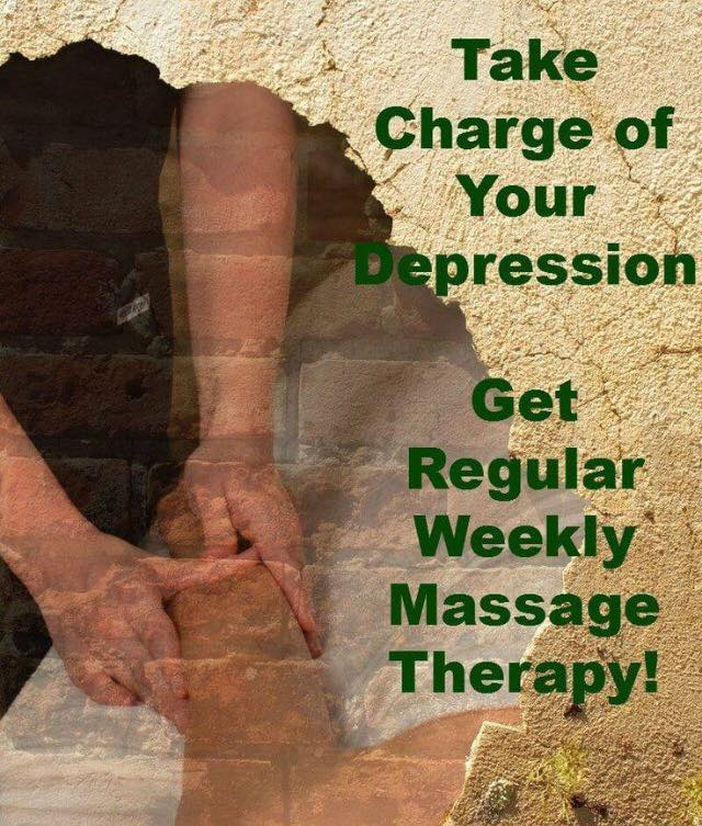 take charge of depression massage therapy